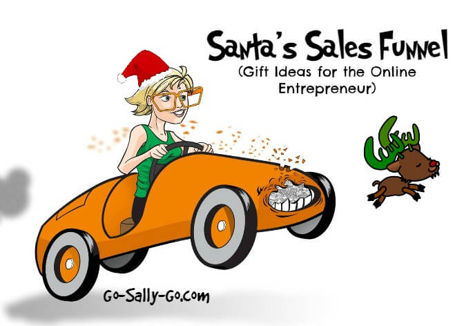 Santa's Sales Funnel! THIRD STOP with gift ideas for the online marketer