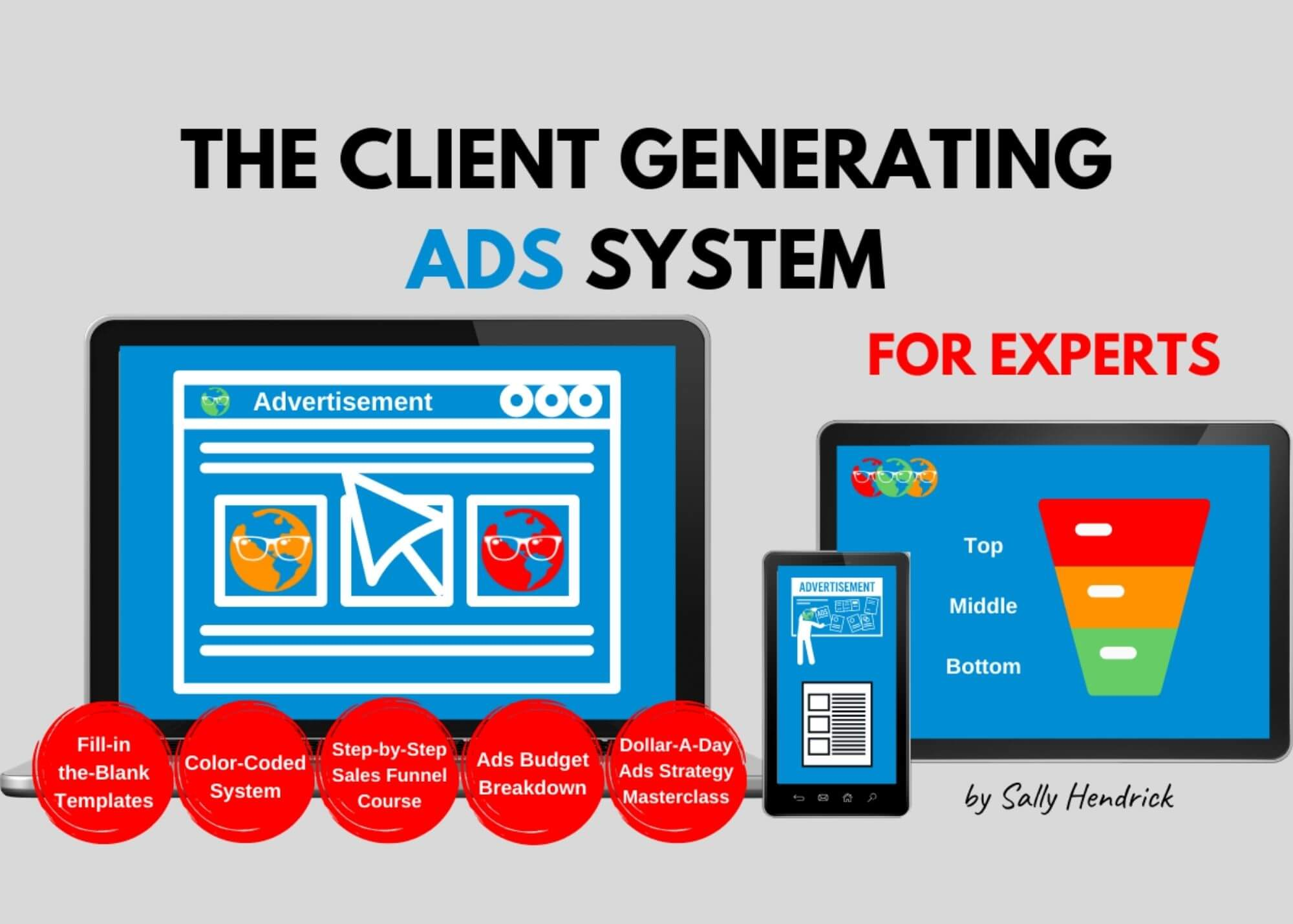 client generating ads system for experts sally hendrick