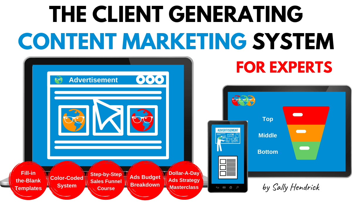 client generating content marketing system for experts sally hendrick